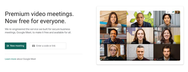 compare webinar's #5 alternative to zoom is google meet